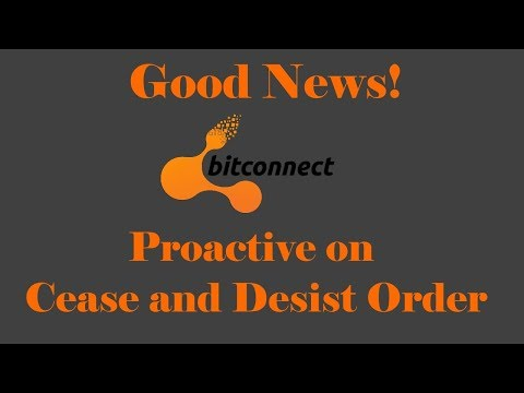 Bitconnect Proactive on Cease and Desist Orders