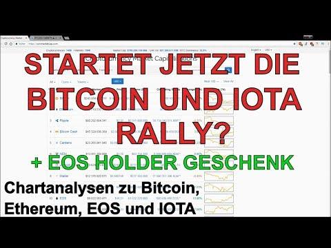 STARTET JETZT DIE BITCOIN UND IOTA RALLY? Marktübersicht und Analyse Bitcoin, Ethereum, EOS und IOTA