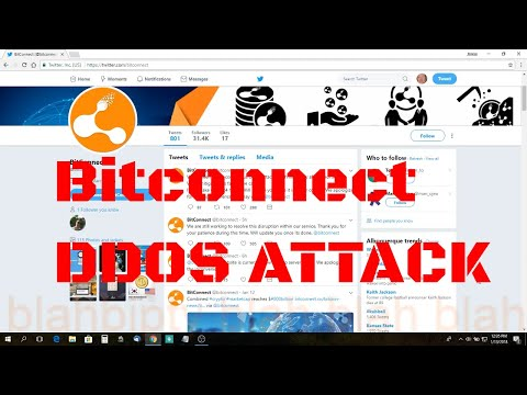 Bitconnect DDOS Attack 13 Jan 2018