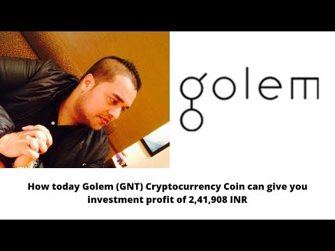 How today Golem (GNT) Cryptocurrency Coin can give you investment profit of 2,41,908 INR