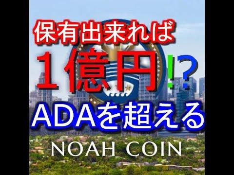 【保有出来れば1億円!?】ADAを超える仮想通貨ICO泉忠司氏のノアコインの最新爆上げ情報【NOAHCOIN】