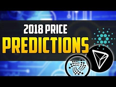 Price Predictions for IOTA, Cardano, Tron 2018 (HUGE RETURNS)