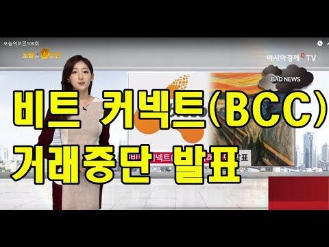 오늘의코인109회(0118) 비트커넥트(BCC) 거래중단발표