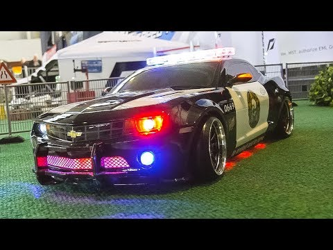 RC MODEL DRIFT CAR CHEVROLET CAMARO SS V8 POLICE IN ACTION!!