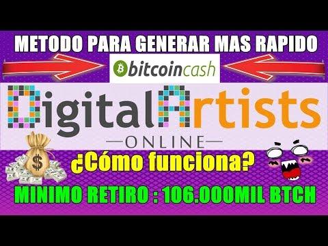 NOTICIA GANATE UNOS BITCOIN CASH 【 DIGITAL ARTIST ONLINE 】 MÉTODO PARA GENERAR MAS RAPIDO✔