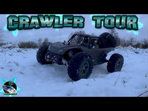 RC Crawler Tour durch den Schnee (1:10 Bulldog 50T)