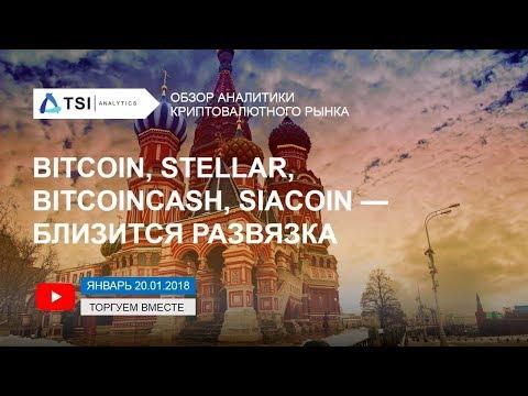 Bitcoin, Stellar, BitcoinCash, SiaCoin — близится развязка   Прогноз Криптовалют от TSI Analytics