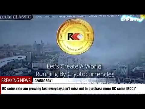 BREAKING NEWS Radium classic coin (RCC) Latest update 9265005041
