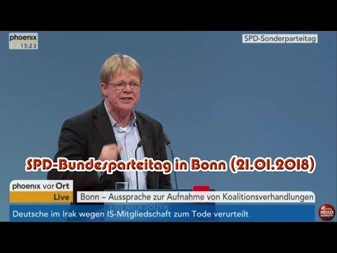 Parteisoldat Reiner Hoffmann – DGB/Bundesvorstand spricht auf dem SPD-Bundesparteitag (21.01.2018)