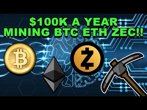 Earning $100K Mining Bitcoin Ethereum ZCash! – Mining BTC ETH ZEC – CryptoCurrency Mining