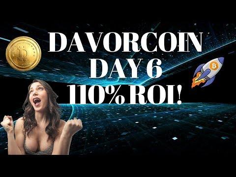 Davor Coin Day 6 Update: 110% ROI & 2018 Roadmap!