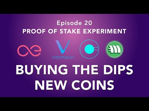 Proof of stake experiment episode 20 – Take the Opportunity and buying the dips + new coins!