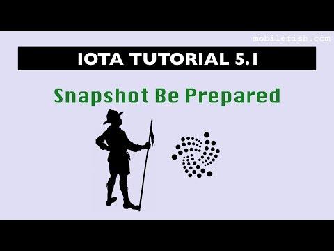 IOTA tutorial 5.1: Snapshot Be Prepared