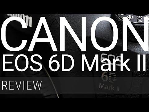 Review da Canon EOS 6D Mark II, ênfase em alcance dinâmico e ruído de imagem.