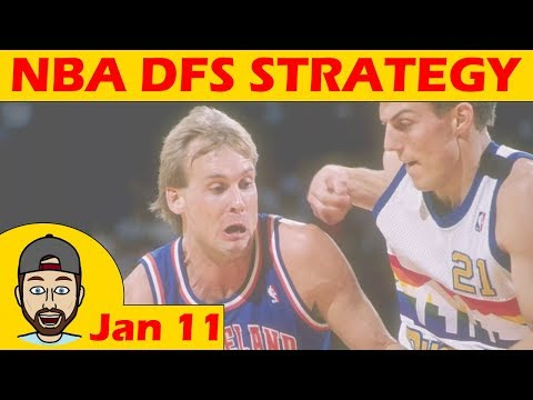 NBA DFS Projections & Strategy | Thursday 1/11 | FanDuel & DraftKings
