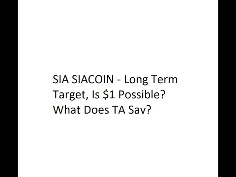 SIA SIACOIN – Long Term Target, Is $1 Possible? What Does TA Say?