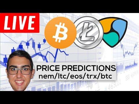 Price Predictions: NEM ($XEM), Litecoin ($LTC), EOS ($EOS), Tron ($TRX), Bitcoin ($BTC), & More!
