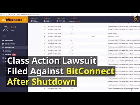 Class Action Lawsuit Filed Against BitConnect