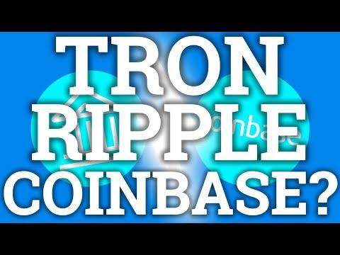 TRON TRX + RIPPLE XRP ON COINBASE? OMISEGO, XLM AND MORE? COIN PRICE PREDICTION CRYPTOCURRENCY NEWS