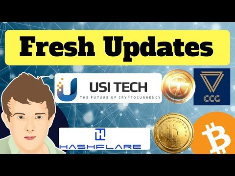 *MUST WATCH* USI Tech Updates, Davor Coin Crash?? Hashflare Progress, CCG Mining Update