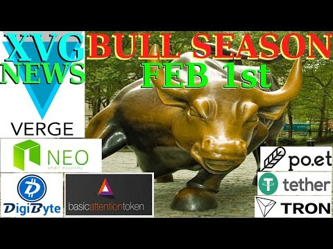 Bull Season Feb 1st – Verge XVG NEWS! – Why is the crypto market down?