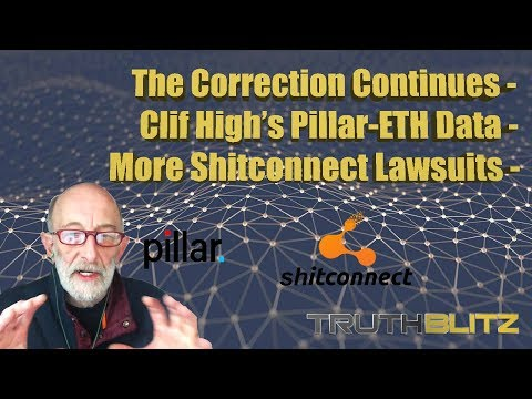 The Correction Continues – Clif High's Pillar-ETH Data – More Bitconnect Lawsuits