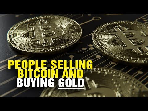 People SELLING Bitcoin and BUYING GOLD