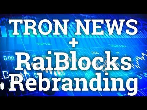RAIBLOCKS XRB REBRANDS TO NANO! TRON TRX LISTED ON CRYPTOPIA! COIN PRICE PREDICTION + CRYPTO NEWS