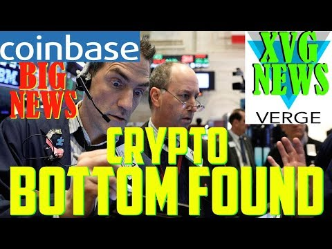 Crypto BOTTOM! – Verge XVG NEWS – Huge Coinbase tweets! – DavorCoin Trouble
