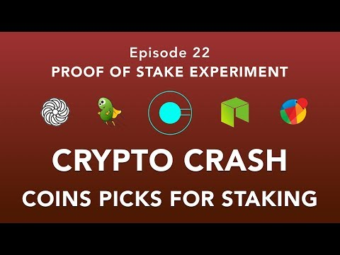 Proof of stake experiement episode 22 – Crypto Crash! – Coins of the week