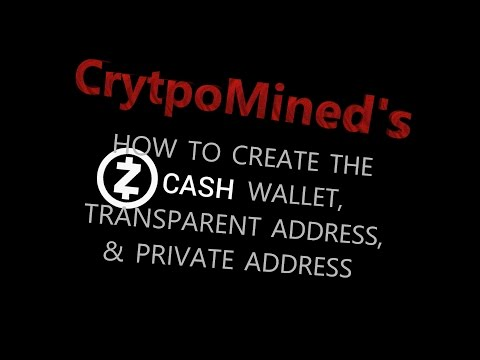 ZCash Wallet and Address: How To Create Your Transparent t-addr and Pivate z-addr ZEC