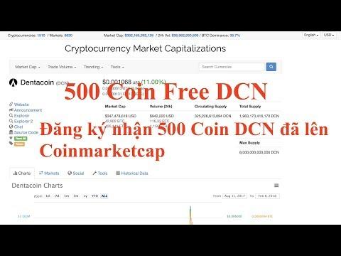 Coin Free Đăng ký nhận 500 Coin DCN đã lên Coinmarketcap Coin Free DCN