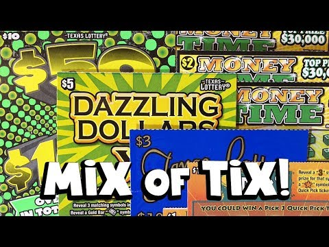 WINS! Mix of Tix! ✦ TEXAS LOTTERY SCRATCH OFF TICKETS