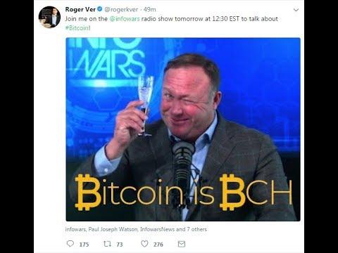 Roger Ver (Bitcoin Cash) on Inforwars with Alex Jones FULL INTERVIEW