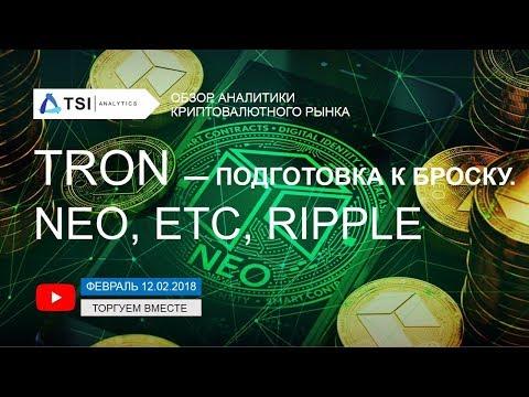 TRON – подготовка к броску. Ripple, NEO, Ethereum Classic | Прогноз криптовалют