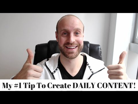 My #1 Secret To Producing Content Everyday On Steemit!