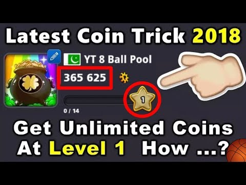8 Ball Pool -OMG  Latest Coin Trick 2018 Get Unlimited Coins At Level 1 [No Root] 3.12.4 Free Coins