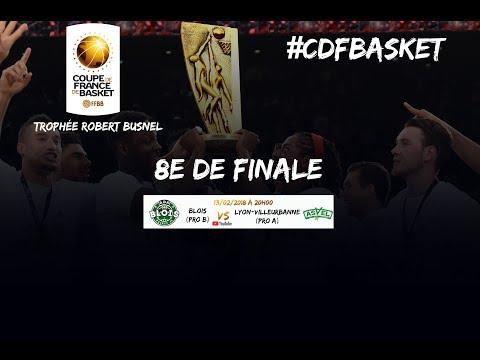 Live – ADA Blois – ASVEL Lyon Villeurbanne – 8e de finale de la Coupe de France
