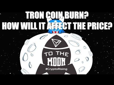 TRON TRX COIN BURN! TRON PRICE PREDICTION 2018!