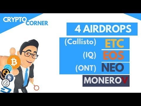 Free Money – ETC, EOS, NEO & Monero Airdrops coming | Crypto Corner wk7