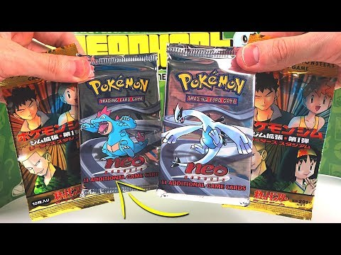 RARE VINTAGE POKEMON CARDS PACKS OPENING!!! (Neo Genesis)