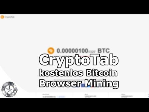 CryptoTab Bitcoin Browser Mining kostenlos Deutsch Februar 2018