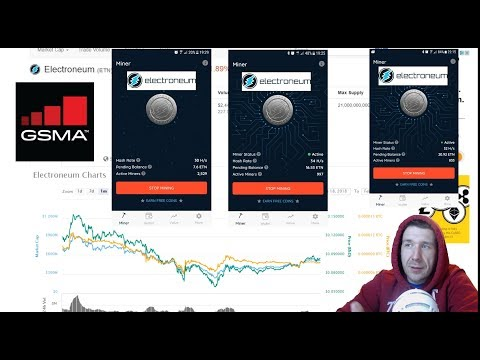Electroneum (ETN) Mobile mining App Update GSMA IS MASSIVE 110k in Attendance !!!!