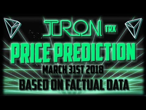 Tron price prediction March 31st 2018 – TRX cryptocurrency news