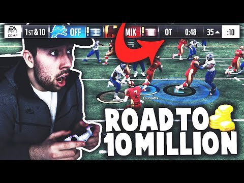 OMG UNREAL OT FINISH! INSANE 200K WAGER VS MADDEN PRO! Road to 10 Million Coins Ep. 1