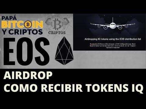 EOS AIRDROP   Como recibir tokens IQ Gratis  