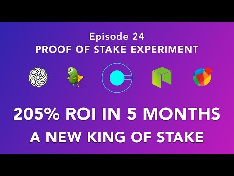Proof of stake experiement episode 24 – New King of stake – Massive 205% ROI in 5 months on one coin