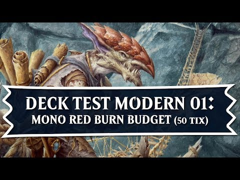 [MTG] Red Burn Budget 50 TIX Deck | Tech Deck Test Modern 01