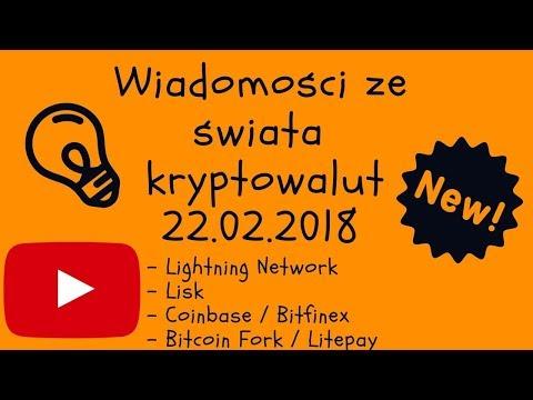 Kryptowaluty Wiadomości 22.02 LN, Coinbase, Bitcoin, Lisk, Litepay, Fork Bitcoina
