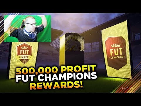 OMG 500,000 COIN PROFIT FROM FUT CHAMPIONS REWARDS! MY LUCKY ELITE 1 REWARDS! FIFA 18 PACK OPENING